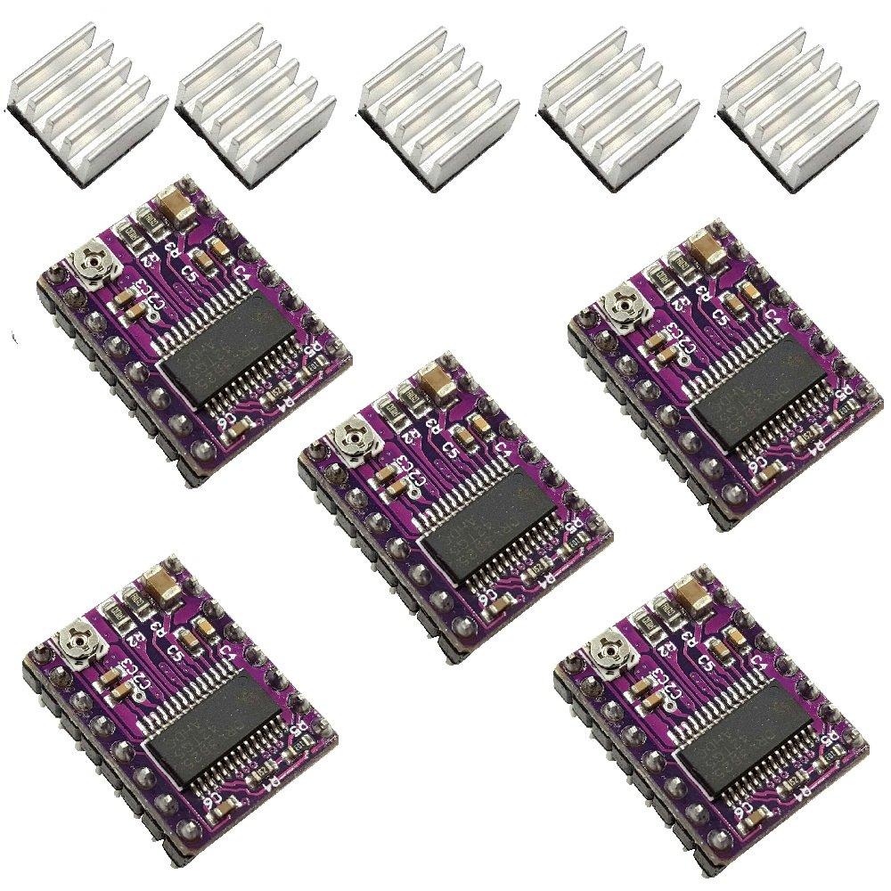 Aiskaer 5 Pcs StepStick 4-layer DRV8825 Stepper Motor Driver Module for 3D Printer Reprap RP A4988
