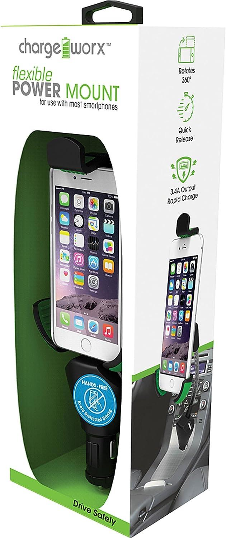 CHARGEWORX Smartphone Power Mount Negro Soporte de Pared para ...