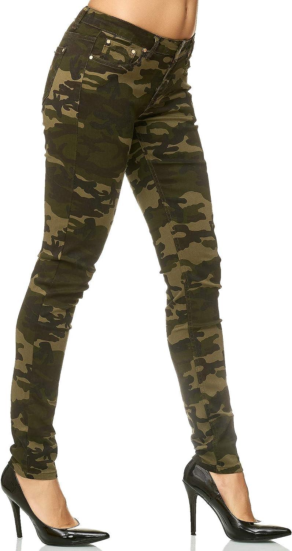 Slim Fit Jeans Skinny Elara Pantaloni Elasticizzati Donna Chunkyrayan Fascia Elastica in Vita