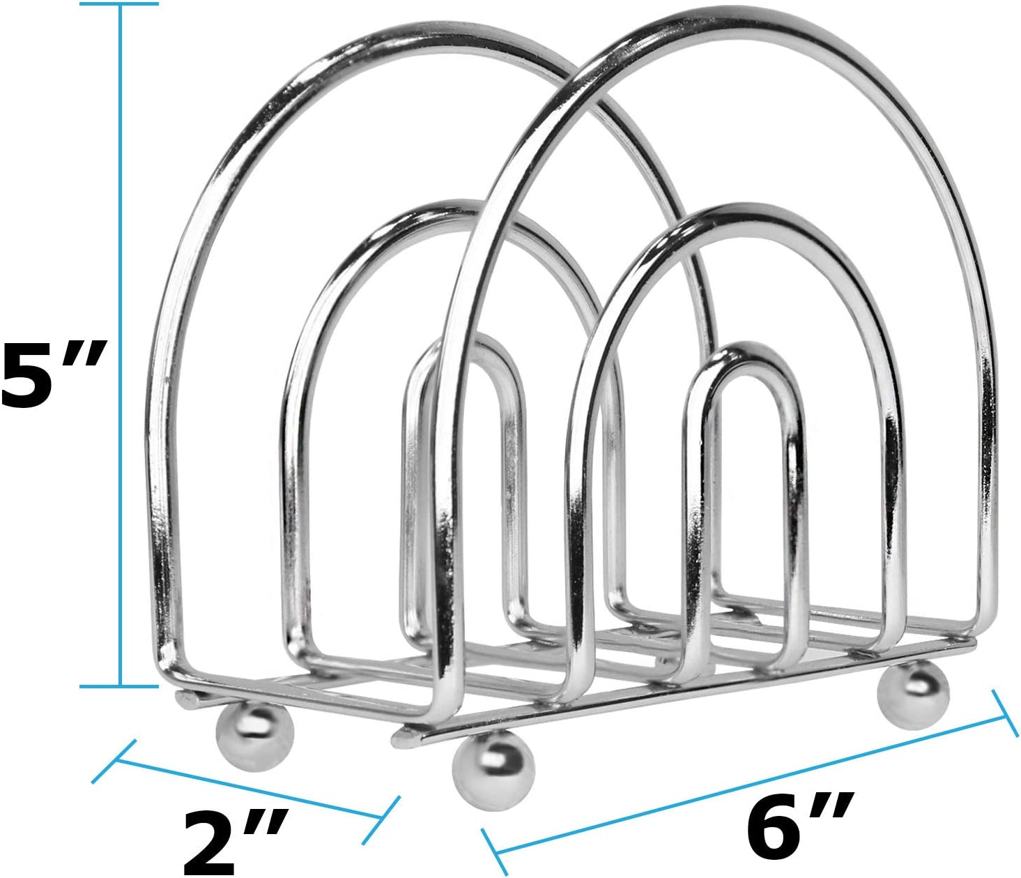 Kitchen Organization Chrome Classic Napkin Holders for Tables Blue Donuts Chrome Collection Napkin Holder Dining Table Napkin Holders for Kitchen