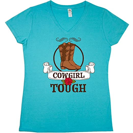 Inktastic Cowgirl Tough With Cowgirl Boots And Rose Women/'s Plus Size T-Shirt
