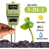 Soil PH Meter, Cogogo 3 in 1 Soil Test Kit for Moisture Sensor/Sunlight/PH Test Function for Home Garden, Farm, Lawn, Indoor & Outdoor (No Battery needed)