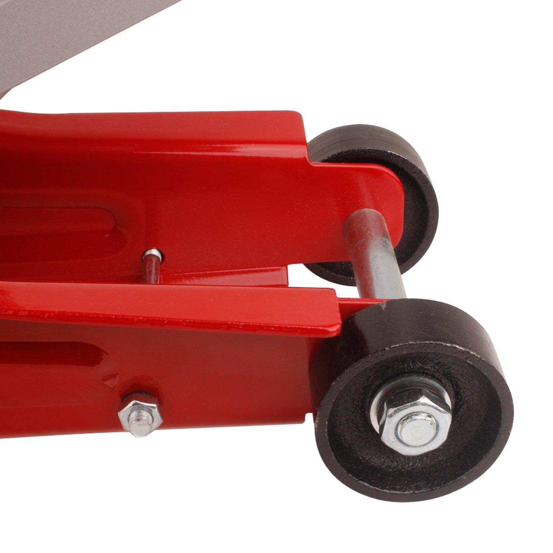 Forever Speed Wagenheber Hydraulische Portable Rangierwagenheber Hohe Lifting Wagenheberaufnahme Gummiauflage Rot, Hydraulischer Rangierwagenheber 2T