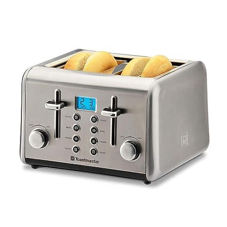 Amazon.com: Toastmaster 4-slice tostador de acero inoxidable ...