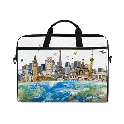 b9464c3b1faf Laptop Bag Briefcase Shoulder Messenger Tablet Bag Earth World Places Of  Historic Interest Business Carrying Handbag