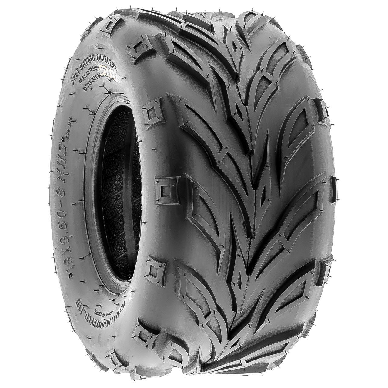 SunF A004 ATV UTV Off-Road Tire 19x9.5-8, 6 PR, Track & Trail, Tubeless