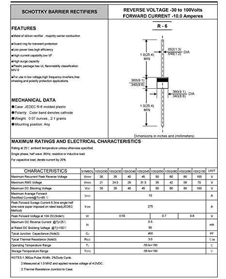 10PCS X CS 2CZ10150A8 TO-220AB Schottky Barrier Diodes