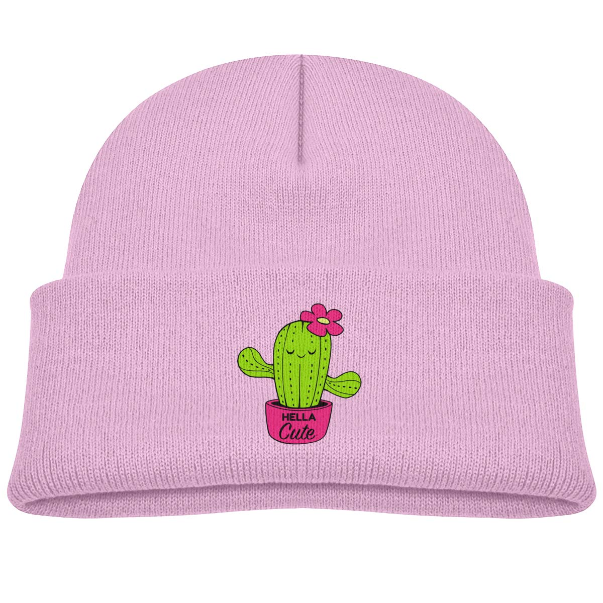 ACFUNEJRQ Cute Cactus Childrens Autumn and Winter Warm Soft Cap Woolen Knitted Hat