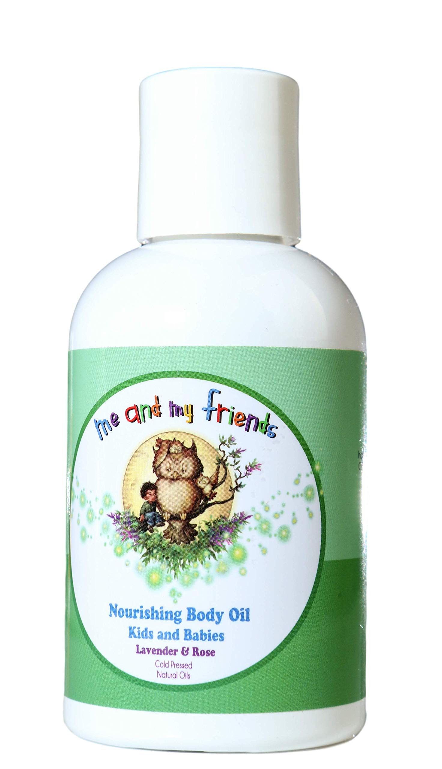 Nourishing Body Oil with Lavender & Rose for Kids and Babies (4oz) by N Nabila K