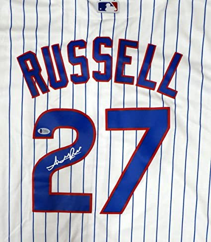 0c1476df3 CHICAGO CUBS ADDISON RUSSELL AUTOGRAPHED WHITE MAJESTIC COOL BASE JERSEY  SIZE XL BECKETT BAS STOCK  125149 at Amazon s Sports Collectibles Store