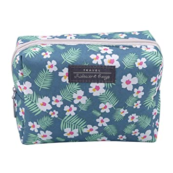 Amazon.com   EH-LIFE Fashion Travel Wash Bag Toiletry Floral Cosmetic Bag  Organizer Makeup Bags Blue   Beauty 8c93a6eea94a4