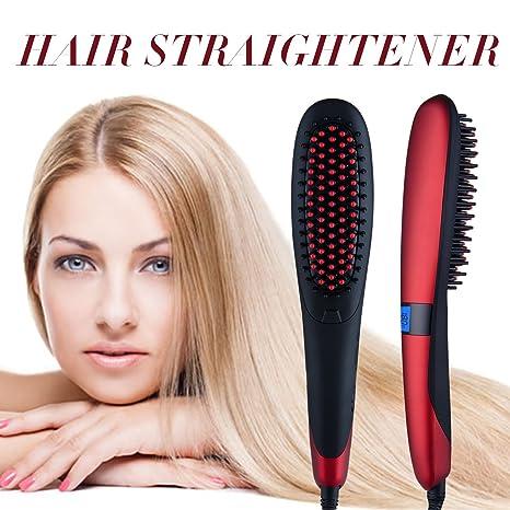 Noza Tec plancha de pelo alisador de cabello calefacción eléctrica cepillo de pelo cabello para sedoso