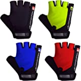 VeloChampion Summer Cycling Race Gloves - in Black, Blue, Red or Fluoro Yellow