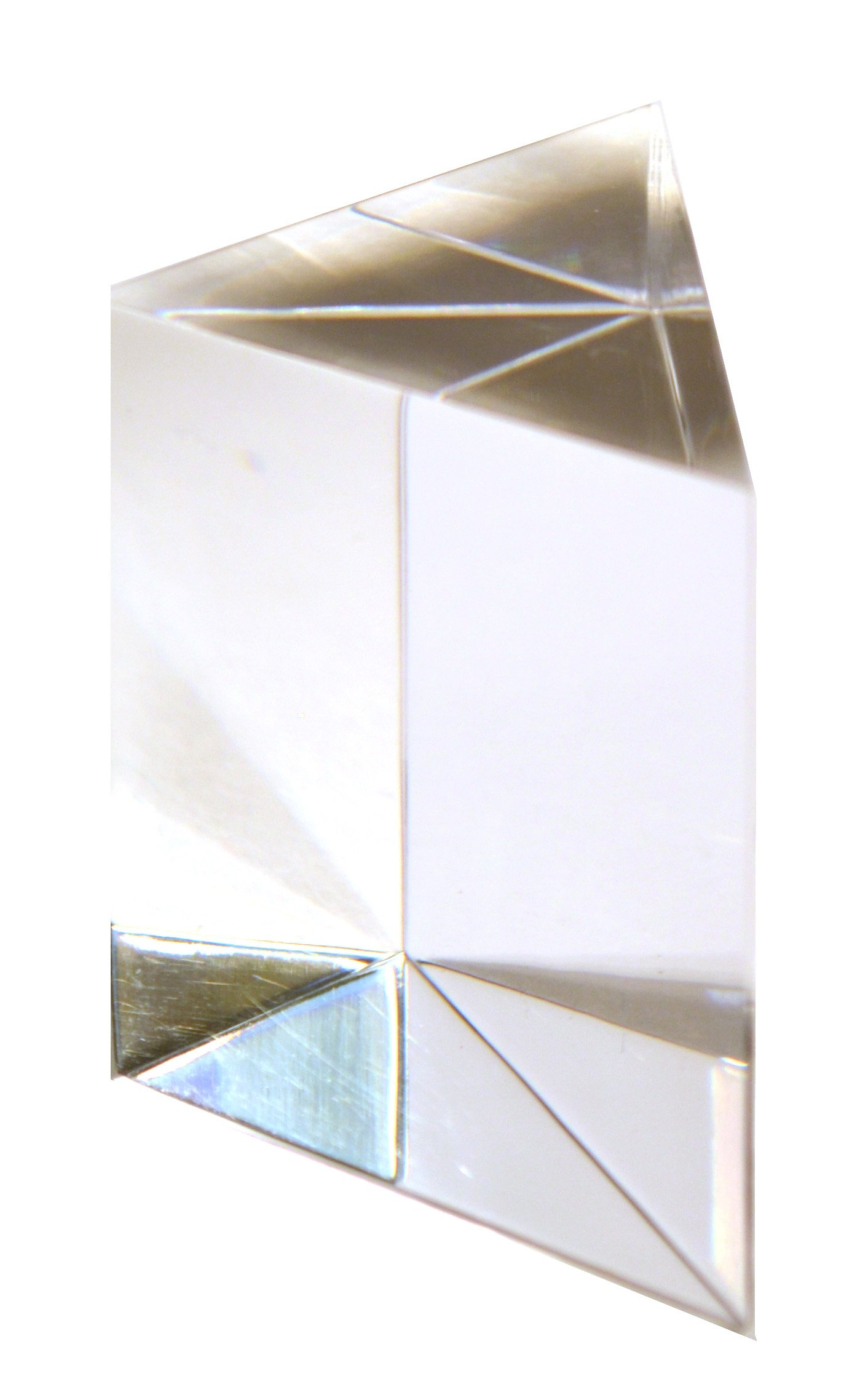 Large Right Angle Prism, 2.9''(74 mm) Hypotenuse, 2'' (50mm) Sides, Made of Acrylic