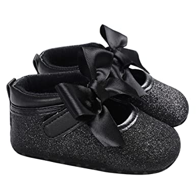 d8dc5c7e7b Kavitoz Baby Toddler Girls Cute Leopard Print Crib Shoes Soft Prewalker  Soft Sole Anti-Slip Shoes