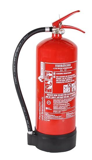 Af 6l Wassernebel Feuerlöscher Auch Fettbrände 4 Löscheinheiten Dauerdrucklöscher Gwm 6x Aktueller Instandhaltungsnachweis