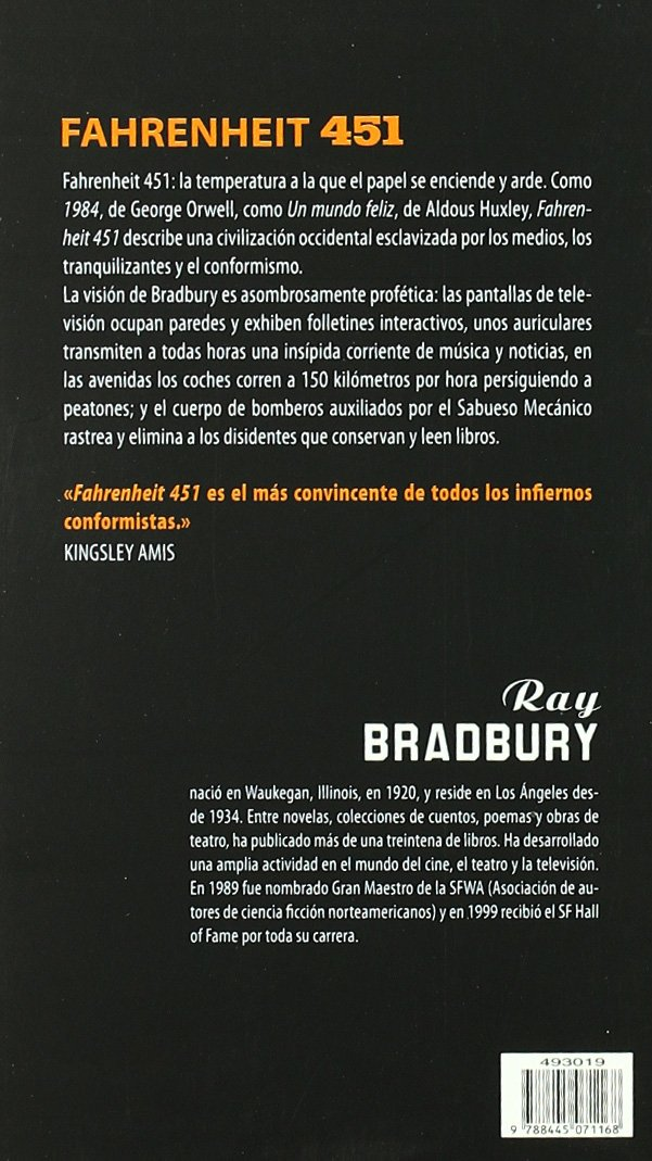 Fahrenheit 451 (Biblioteca Ray Bradbury): Amazon.es: Bradbury, Ray, Abelenda, Francisco: Libros