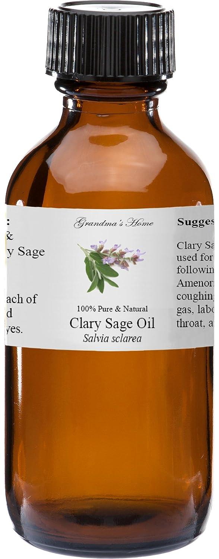 Clary Sage Essential Oil 4 oz 100% Pure and Natural Therapeutic Grade Grandma's Home