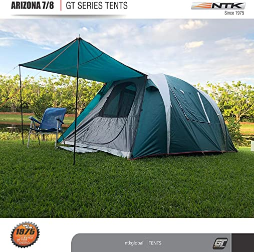 NTK Arizona GT 7 to 8 Person 14 by 8 Foot Sport Camping Tent