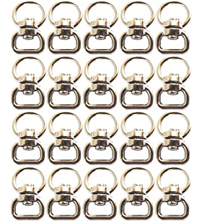 100Pcs Keychain Connectors Clasp Double Ended Swivel Eye Hooks for Crafts