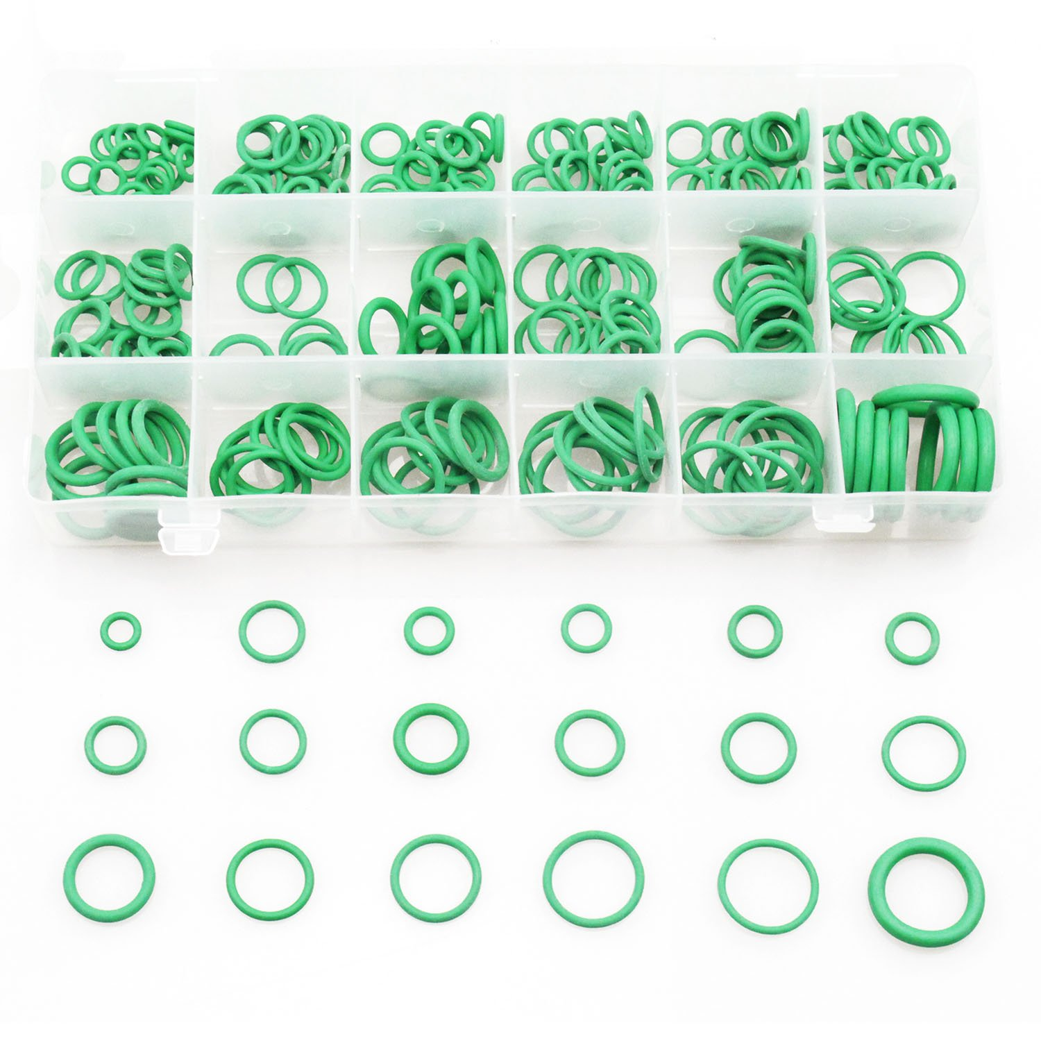 8 Sizes Rubber Grommet Kit Ring Assortment Set Electrical Gasket Tools for Wire, Cable and Plug (180 Pcs) Sutemribor