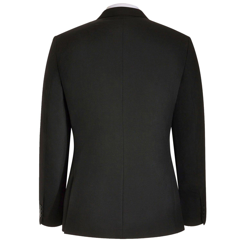 HBDesign Mens 1 Piece 1 Button Notch Lapel Slim Fit Fashion Formal Suit Black