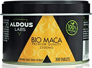 Extracto de Pura Maca Andina Ecológica Premium para 9 meses   300 comprimidos de 2500mg   Altamente concentrada 10:1   Aumenta Energía y Vitalidad   Libre de Plástico   Certificación Ecológica Oficial