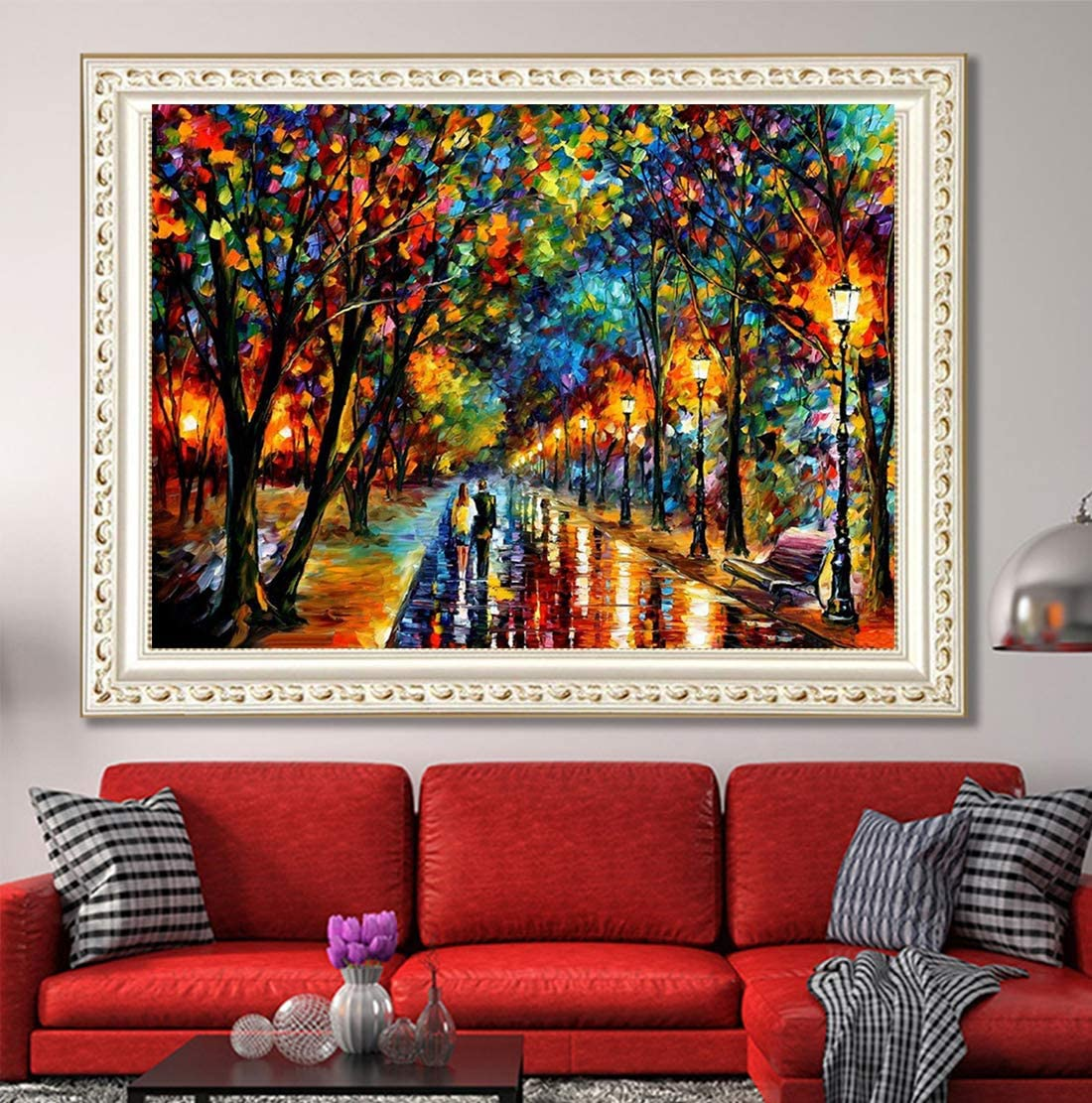 Full Diamond Scenery Rhinestone Embroidery Cross Stitch Arts Craft for Canvas Wall Decor DIY 5D Diamond Painting by Number Kit