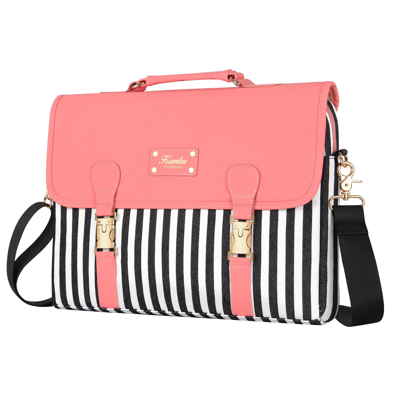 Laptop Bag 15.6 Inch - for Women Laptop Case Shoulder Messenger Macbook Pro Bag by Kamlui