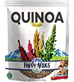 Happy Andes Tri-Color Quinoa 3 lbs - Non Gluten, Whole Grain Rice Substitute - Ready to Cook Food for Oats and Seeds Recipes - Healthy Meal with Vitamins and Protein - Best Value Grocery Bag