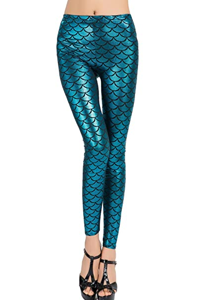 12c89710ce3ce Amazon.com: Befox Women Sexy Mermaid Fish Scale Hologram Stretch ...