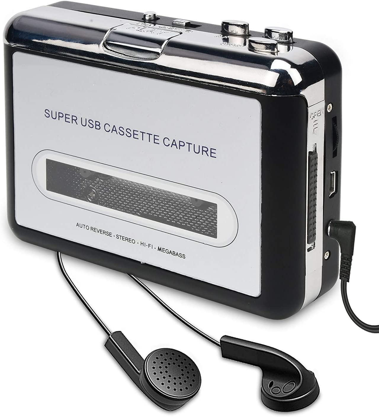 Compatible with Laptops and Personal Computers OfficeLead Classical Portable Tape Player Cassette Player Vintage Auto Reverse Portable Audio Tape Walkman with Earphones