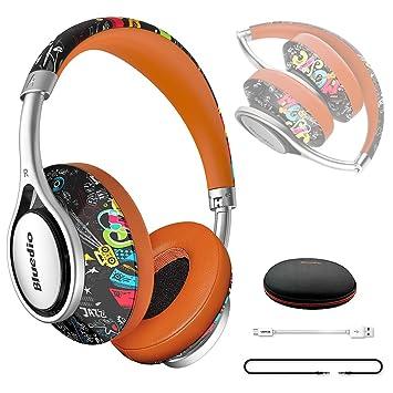Bluedio A2 - Auriculares inalámbricos Bluetooth con micrófono integrado para teléfono móvil, diseño de graffiti: Amazon.es: Electrónica