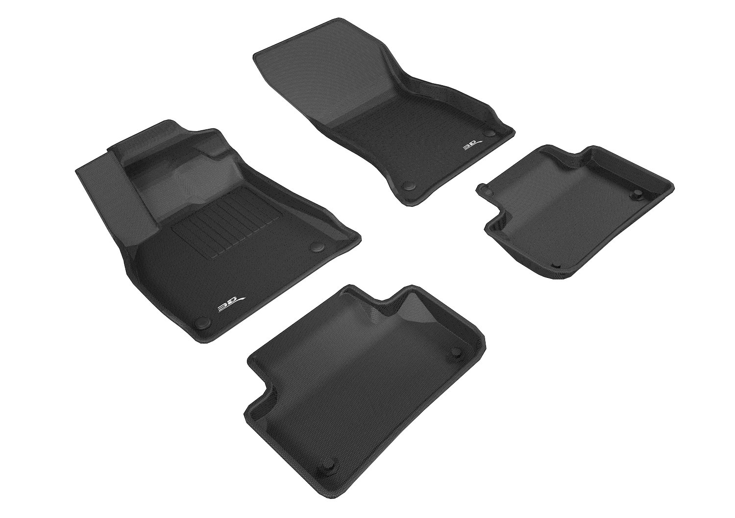 Black Kagu Rubber 3D MAXpider Complete Set Custom Fit All-Weather Floor Mat for Select Audi Q5 Models