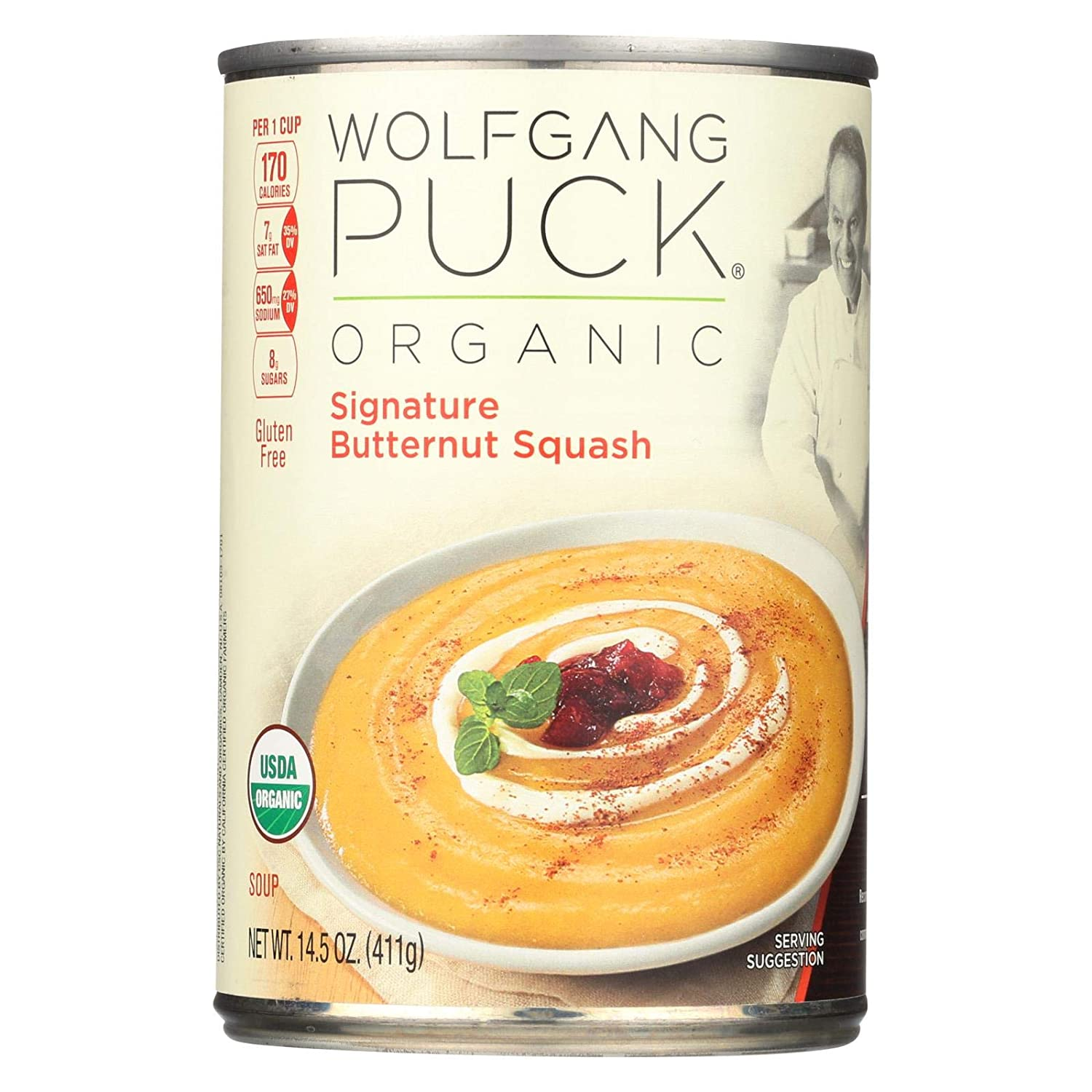 Wolfgang Puck Creamy Butternut Squash Soup 14.5 Oz -Pack of 12