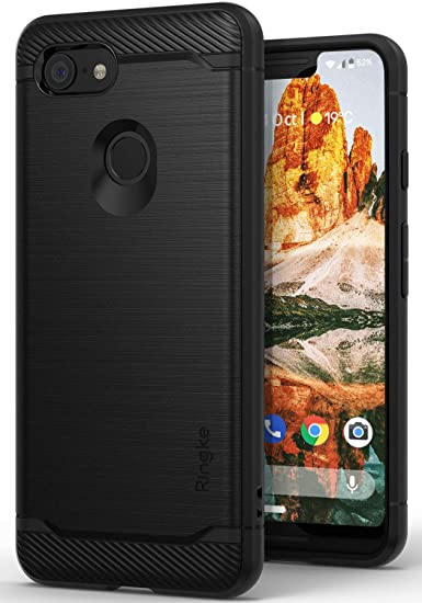 detailed pictures e72d0 5a59a Ringke Onyx Compatible with Pixel 3 XL Case [Extreme Tough] Compatible  Rugged Flexible Protection Durable Anti-Slip TPU Heavy Impact Shock  Absorbent ...