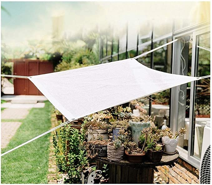 WGGOG Jardín sombreado Sombra Neta de Tela 85% del Techo sombreado Sombra de Malla Resistente a UV Carpa Blanca Lona Toldos Tela protección de Las Plantas de Flor Protector Solar Neto: Amazon.es: