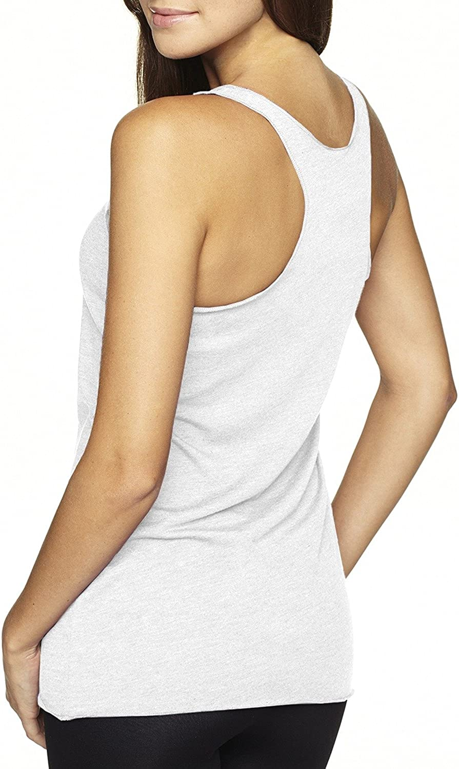 LIFE IS BALANCE Love The Game Women/'s Tennis Tri-Blend Racer-Back Tank top