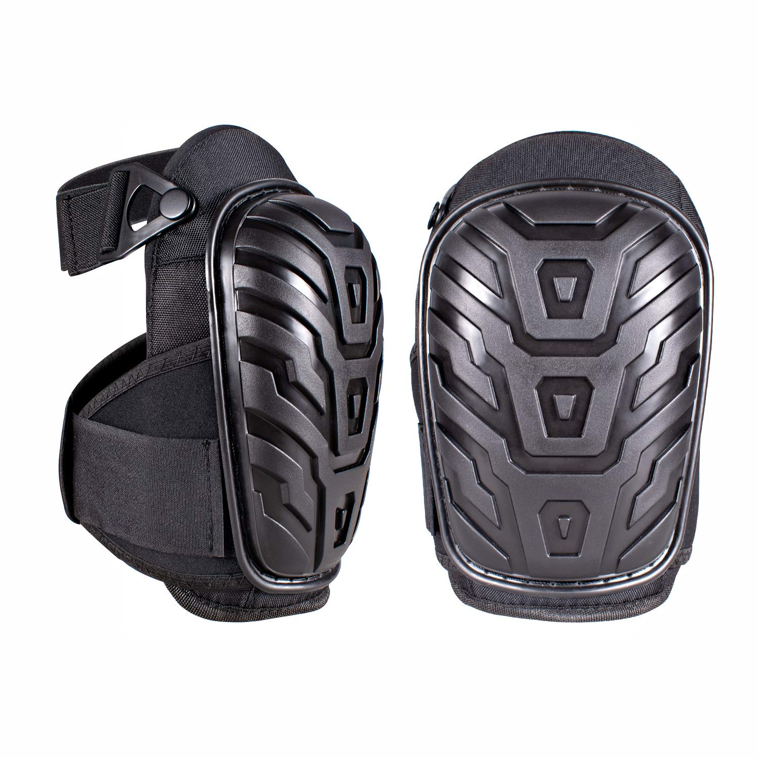 Professional Knee Pads for Work with Heavy Duty Foam Padding and Comfortable Gel Cushion Strong Double Adjustable Non-Slip Straps Great for Construction Gardening Flooring Cleaning ...
