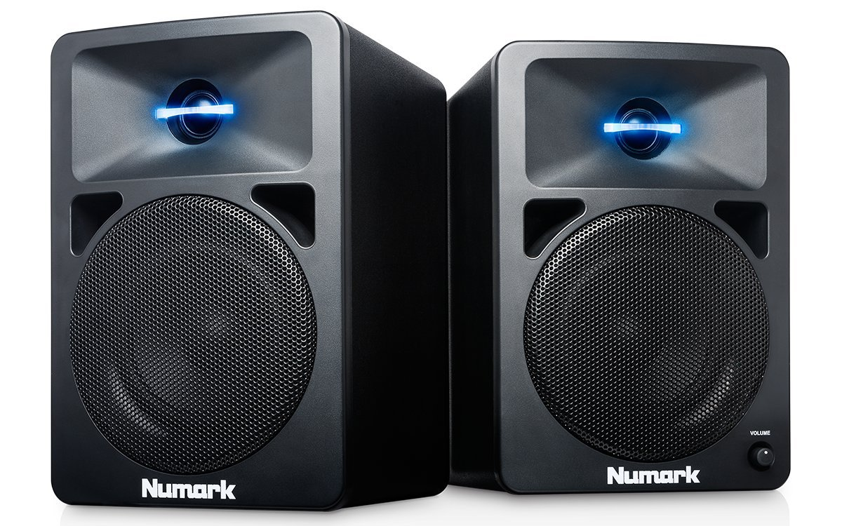 Numark N-Wave 360 | Powered Desktop DJ Monitor Speakers (3 woofer / 60 watts) NWAVE360 Accessory Consumer Accessories