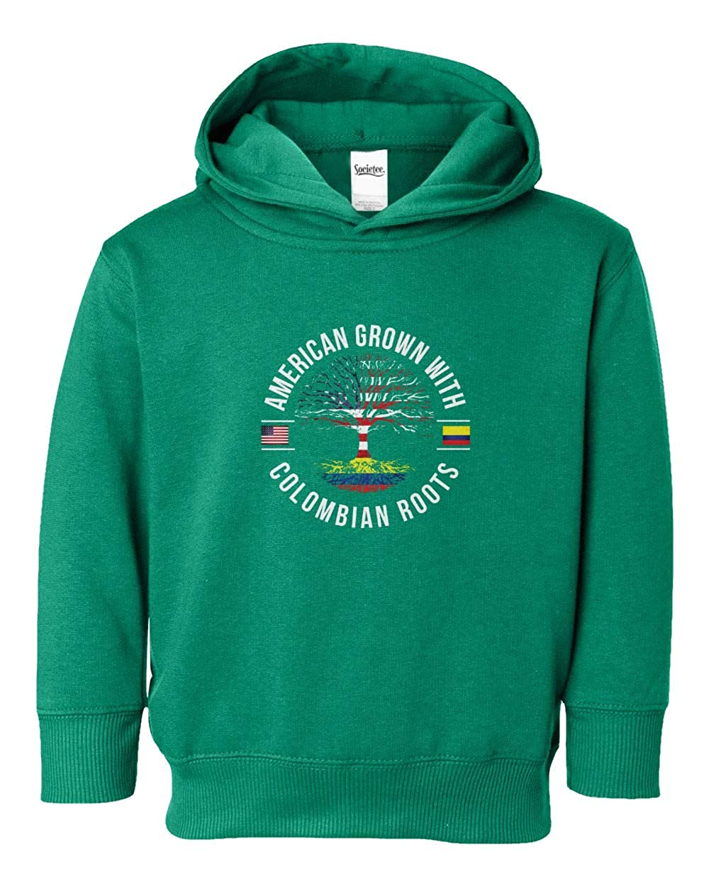 Societee American Grown with Colombian Roots Youth /& Toddler Hoodie Sweatshirt