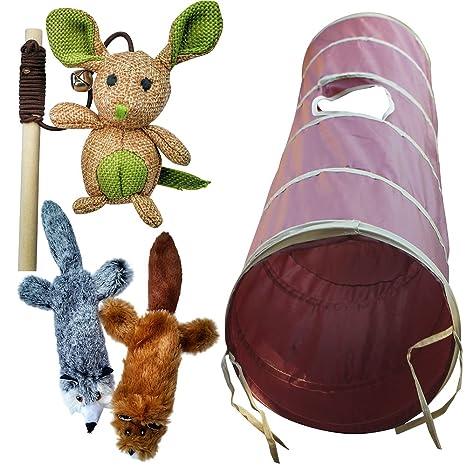 Cat Toy BUNDLE (3 juguetes) por 3 gatos – gato túnel – Catnip Peluche