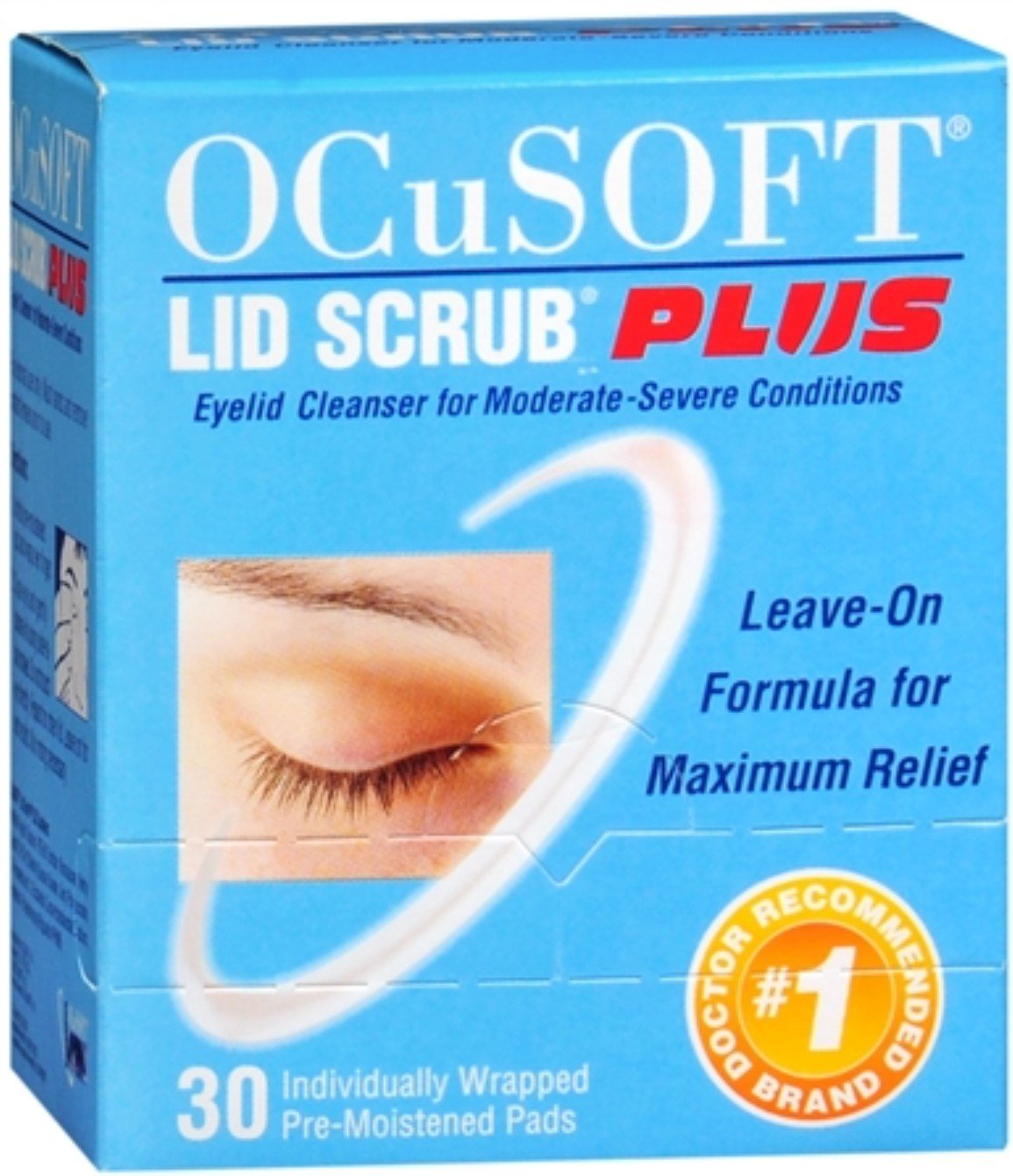 OCuSOFT Plus Eyelid Cleanser Pads 30 Each (Pack of 3)
