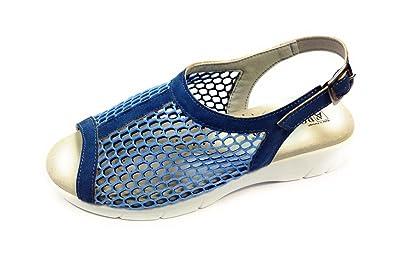 ARCOPEDICO Sandalo Donna ANTALI di in Pelle e Tessuto a Rete