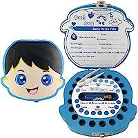 Baby Tooth Fairy Box Keepsake - Boys   Wooden Tooth Holder &Organizer for Kids