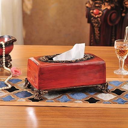 CTZLL Caja de resina Vintage tejido caja creativa imitación madera decoraciones caseras libro decoración de Chinoiserie