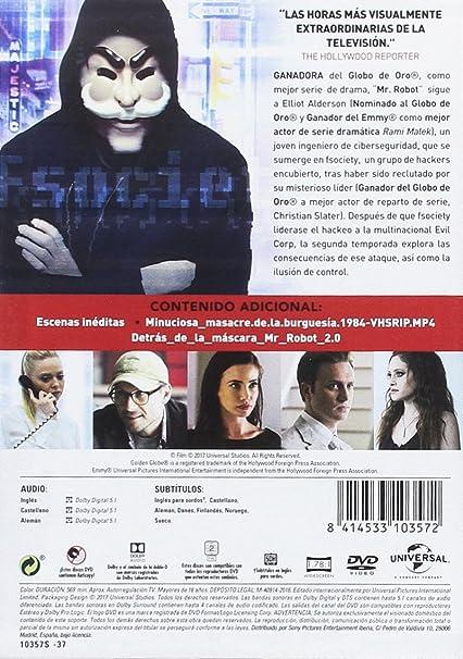 Mr. Robot - Temporada 2 [DVD]: Amazon.es: Rami Malek, Christian Slater, Portia Doubleday, Carly Chaikin, Sam Esmail, Rami Malek, Christian Slater, Universal Cable Productions: Cine y Series TV