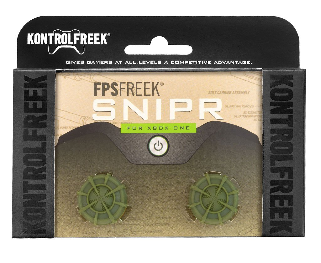 KontrolFreek FPS Freek Snipr for Xbox One Controller | Performance Thumbsticks | 2 High-Rise Convex (Domed) | Green by KontrolFreek