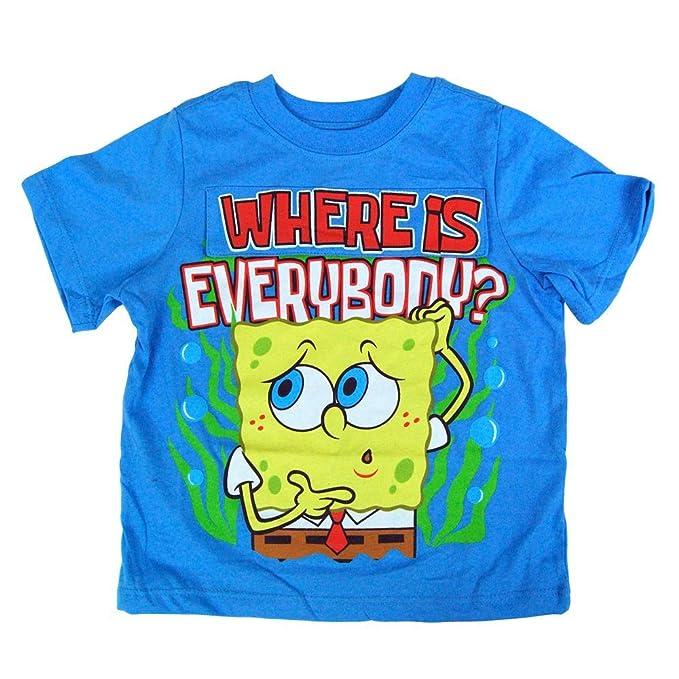 amazon com nickelodeon spongebob squarepants toddler blue flap t
