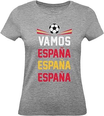 Green Turtle T-Shirts Camiseta para Mujer - Vamos España - Apoyemos a la Selección Española!: Amazon.es: Ropa y accesorios